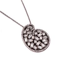 Sümer Telkari Yeni Trend Baget Gümüş Kolye 1039