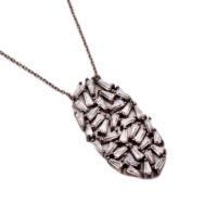Sümer Telkari Yeni Trend Baget Gümüş Kolye 1040