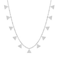 Sitille Gümüş Üçgenler Kolye N0300B36