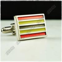 Extore Kol Düğmesi Sarı Kırmızı Siyah Kd462