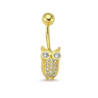 AltınSepeti Altın Baykuşlu Göbek Piercing AS08PC