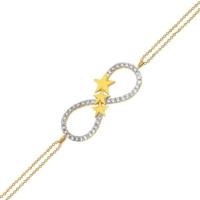 AltınSepeti Altın Yıldızlı Sonsuzluk Bileklik AS227BL