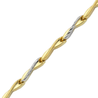 AltınSepeti Altın Taşsız İki Renk Bileklik AS224BL