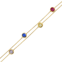 AltınSepeti Renkli Taşlı Altın Bileklik AS76BL