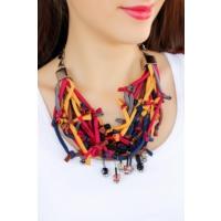 Çınar E-Ticaret Taş Detaylı Kumaş Bayan Yaka Kolye Bko1624