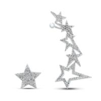 Bella Gloria Yıldızlar Kıkırdak Gümüş Küpe (Gp00310)