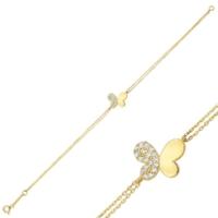 Altınbaş Altın Kelebek Bileklik Blsv1478-24737