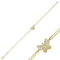 Altınbaş Altın Kelebek Bileklik Blsv1476-24737