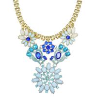 Myfavori Kolye Mavi Çiçek Chocker Kolye Yüksek Kalite Trendy Kolye Modelleri