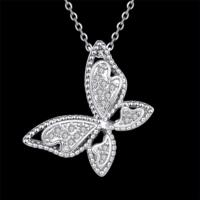 Myfavori Kolye Sevimli Kelebek Kolye Yeni Moda Gümüş Kaplama Gerdanlık Kolye Takı