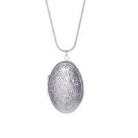 Myfavori Kolye Uzun Zincirli Resim Çerçevesi Kolye Moda Gümüş Kaplama Oval Fotoğraf Kolye