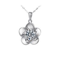 Myfavori Kolye Beyaz Taşlı Kolye Gümüş Kaplama Çiçek Hediye Kolye Modelleri
