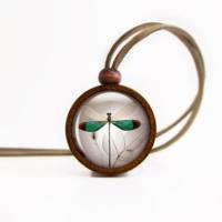 Bijulab Yeşil Yusufçuk Kolye