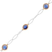 Altınsepeti Gümüş Mavi Taşlı Bileklik G68Bl