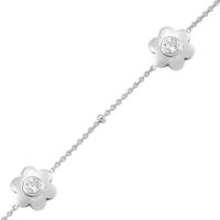 Altınsepeti Gümüş Papatya Modeli Çiçek Bileklik Asmf021364