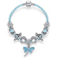 Angemıel Angemiel Mavi Deri Su Sineği Nota Kalp Charmlı Bileklik