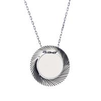 Affix Silver Gümüş Özel Kesim İsim Yazılabilen Plaka Kolye