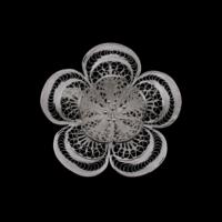 Akyüz Gümüş Papatya İşlemeli Telkari Gümüş Broş Brs008