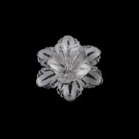 Akyüz Gümüş Papatya İşlemeli Telkari Gümüş Broş Brs017