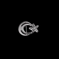 Akyüz Gümüş Ay Yıldız Telkari Gümüş Rozet Akse006