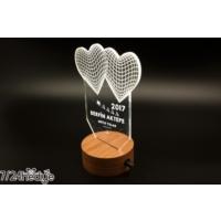 7/24 Hediye Yılbaşı Hediyesi Kalpli 3D Led Lamba