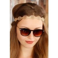 Morvizyon Bronz Renk Hasır Model Bayan Saç Bandı Sc122