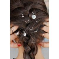 Morvizyon Gri Renk Kaplama Aksesuarlı Bayan Saç Yüzüğü Sc159