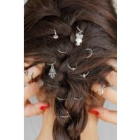 Morvizyon Gri Renk Kaplama Fatma Ana El Ve Baykuş Figürlü Bayan Saç Yüzüğü