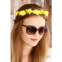 Morvizyon Sarı Gül Tasarımlı Bayan Taç Sc153