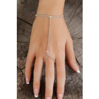 Morvizyon Zirkon Parlak Taşlı Silver Renk Zincir Tasarımlı Bayan Şahmeran Bileklik