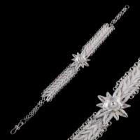 Akyüz Gümüş Papatya İşlemeli Pullu Telkari Gümüş Bileklik Bt028