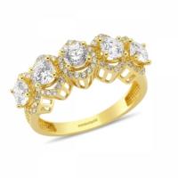 SembolGold Altın 5 Taş Yüzük Özel Tasarım SG42-783413