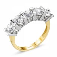 SembolGold Altın 5 Taş Yüzük SG42-783406