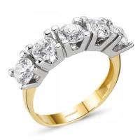SembolGold Altın 5 Taş Yüzük SG42-783405