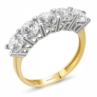 SembolGold Altın 5 Taş Yüzük SG42-783402