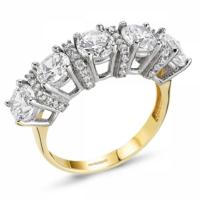 SembolGold Altın 5 Taş Yüzük SG42-783401