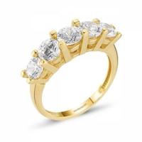 SembolGold Altın 5 Taş Yüzük SG42-783410