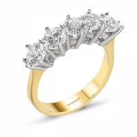 SembolGold Altın 5 Taş Yüzük SG42-783409