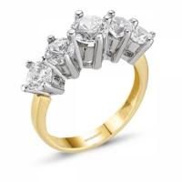 SembolGold Altın 5 Taş Yüzük SG42-783408