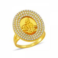 AdorGold 14 Ayar Altın Osmanlı Tuğralı Yüzük SG42-00237995