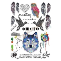 Hane14 Wolf And Nature Geçici Dövme