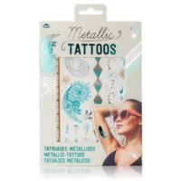 Npw Metallic Jewellery Tattoos - Geçici Metalik Mücevher Dövmeleri - 2 Tabaka - Turkuaz Ve Gümüş