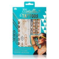 Npw Metallic Jewellery Tattoos - Geçici Metalik Mücevher Dövmeleri - 2 Tabaka - Altın Ve Kızıl