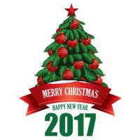Ejoya Yeni Yıl Ağacı Duvar Sticker 60 X 78 Cm