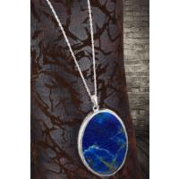 Dr Stone Lapis Lazuli 925Ayar Gümüş Kadın Kolye 120Ar730