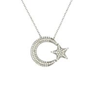 Sanroza Gümüş Takı Ay Yıldız Gümüş Kolye 1294