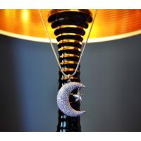 Monemel Swarovski Taşlı Ay Yıldızlı Kolye- Uzun Zincirli (Altın Kaplama) N0450