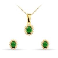 Ejoya Yeşil Taşlı Anturaj Takım 61489