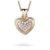 Ejoya Zircone Taşlı Kalp Altın Kolye 74132