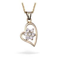 Ejoya Zircone Taşlı Kalbimdeki Çiçek Altın Kolye 74136